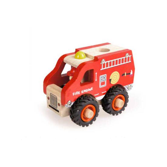 Camion pompiers en bois
