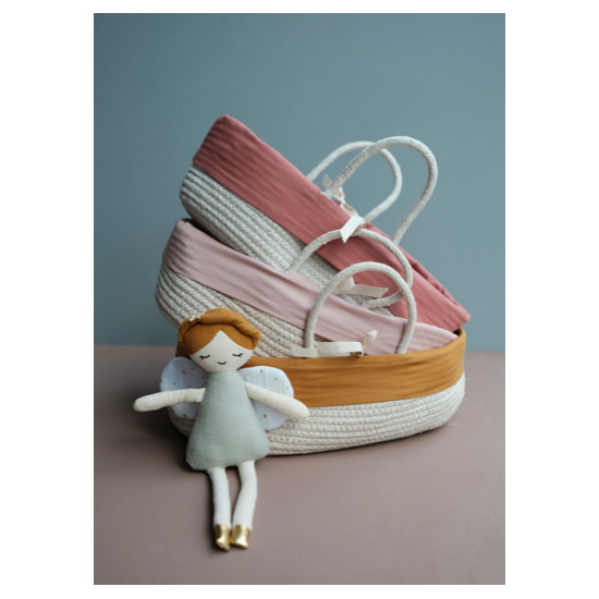 Couffin pour poupées - Ocre
