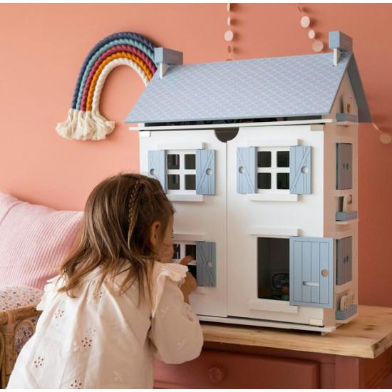 Maison de poupées en bois -...
