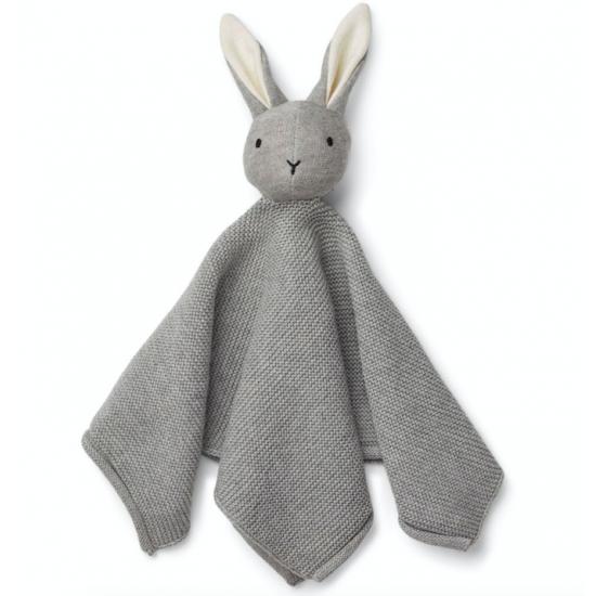 Doudou lapin Milo gris en...