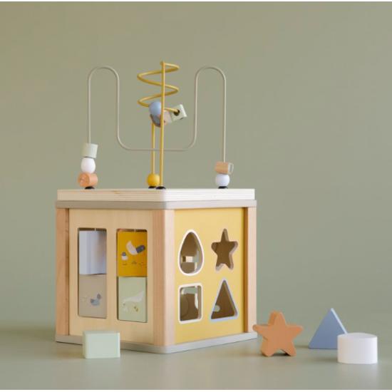Cube d'activités en bois -...