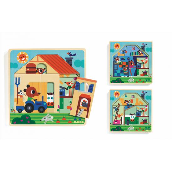 Puzzle 3 niveaux chez Gaby