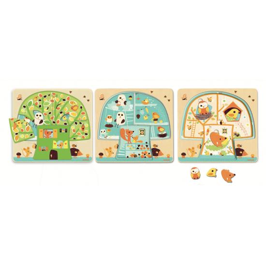 Puzzle 3 niveaux Chez-nut
