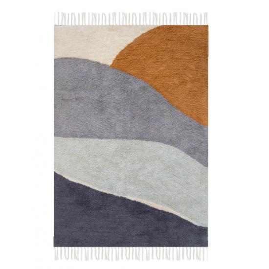 Tapis horizon bleu 130 x 90 cm