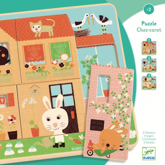 Puzzle 3 niveaux Chez-carot