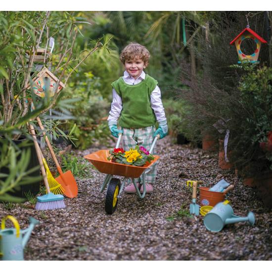 Seau en métal Happy garden