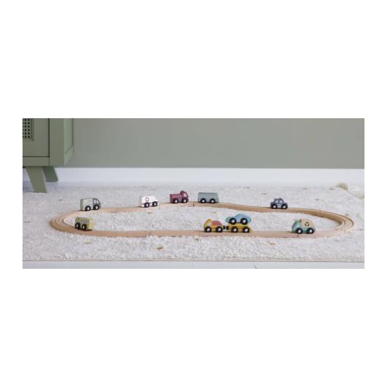 Ensemble de véhicules en bois
