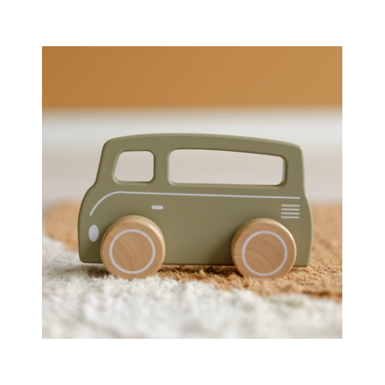 Van en bois - Vert olive