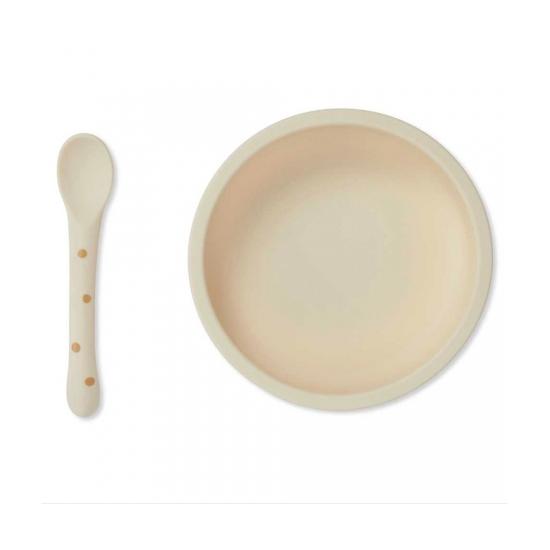 Set repas en silicone avec...