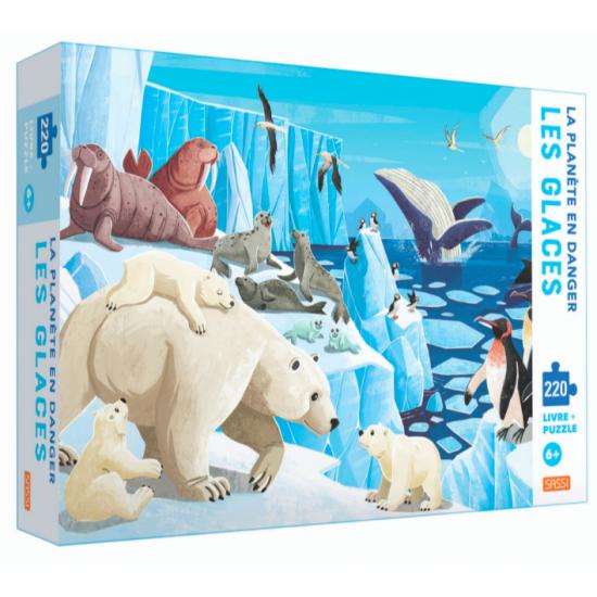 Livre + puzzle 220 pièces -...