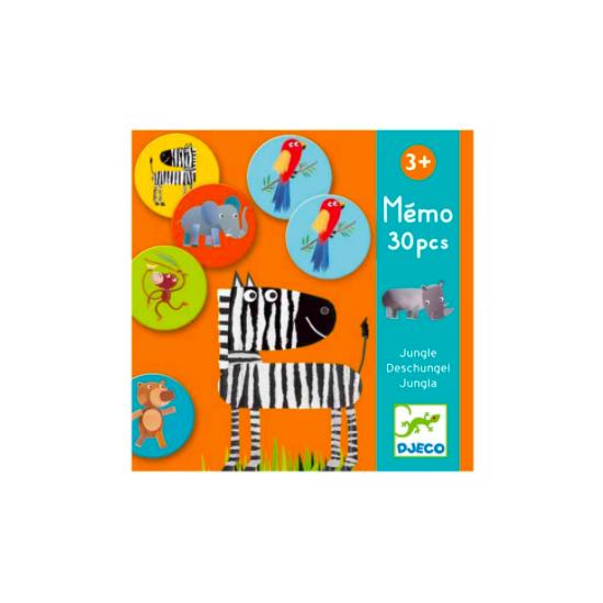 Mémo 30 pièces - Jungle