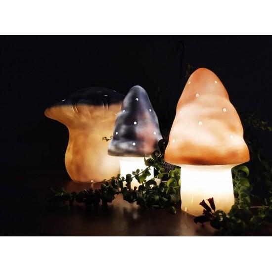 Lampe grand champignon - Doré