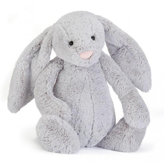 Doudou lapin gris - Medium