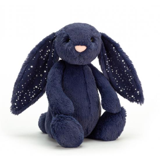 Doudou lapin bleu stardust...