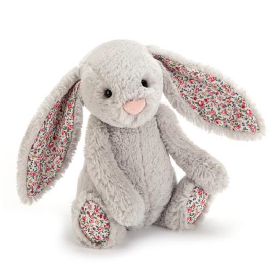 Doudou lapin silver blossom...