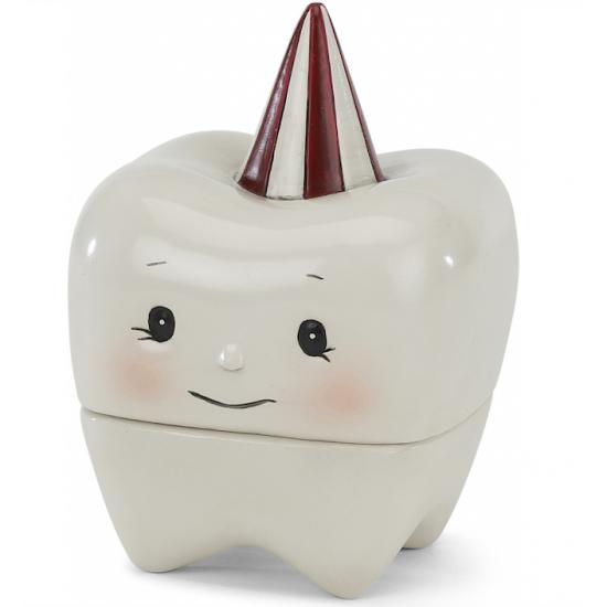 Boîte à dents en porcelaine...