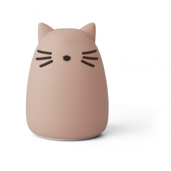 Veilleuse Winston chat - Rose