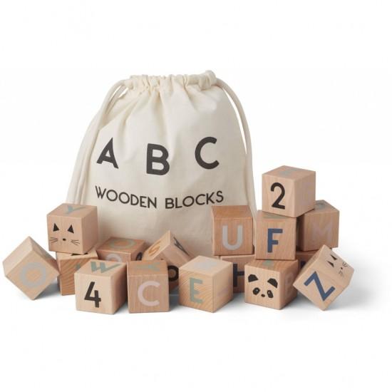 Cubes en bois alphabet