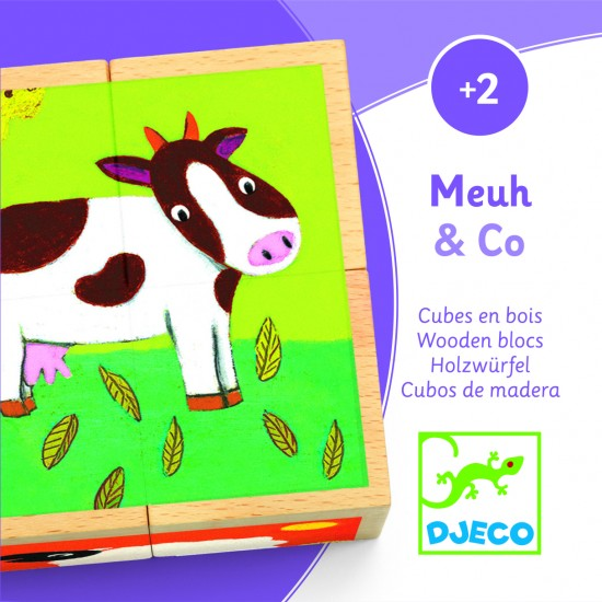 Meuh & Co - Cubes en bois