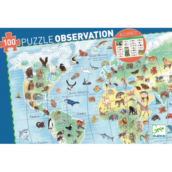 Puzzle observation Animaux