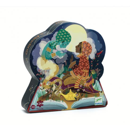 Puzzle silhouette Aladdin