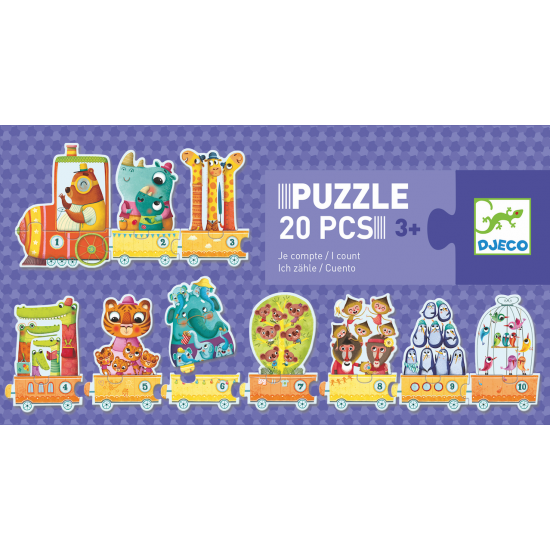 Puzzle 20 pièces Je compte