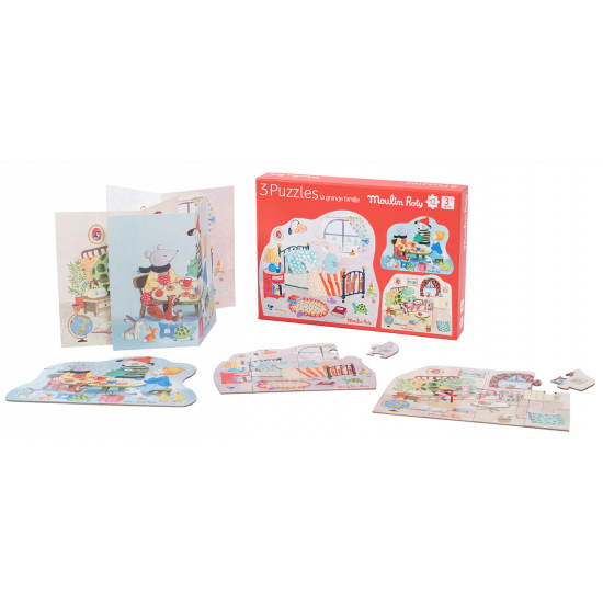 3 puzzles - La grande famille