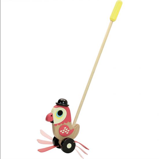 Jouet à pousser - Perroquet